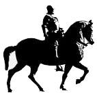Man on horse.