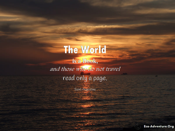 The world is a book, and those who not travel read only a page.